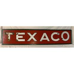 Texaco  Porcelain Letters on Board
