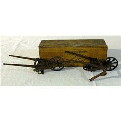 Salesman Sample Hand Seeder Drill & Wheel Hoe