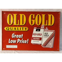 Old Gold Cigarettes Embossed  Tin Sign