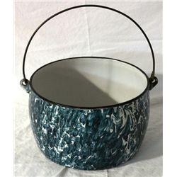 Enamelware Handled Pot