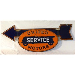 United Motor Service Double-sided Porcelain Sign