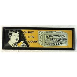 Griffith's Butter Self-framed Tin Sign