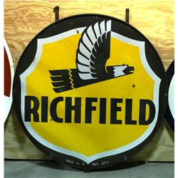 Richfield Gas Double Sided Porcelain Sign
