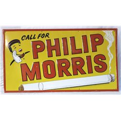 Phillip Morris Cigarette Embossed Tin Sign