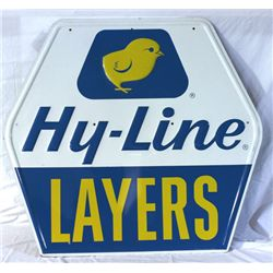 Hy Line Layers Tin Embossed Die Cut Sign