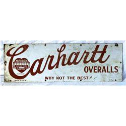 Carhartt Overalls Porcelain Single-sided Sign
