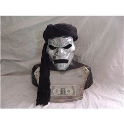 300 IMMORTALS SCREEN USED HERO MASK WITH TURBAN AND CHEST ARMOR FIRST ONE MADE FOR SCREEN USE!