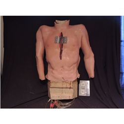 SILICONE OPEN HEART SURGERY TORSO WITH RIB SPREADERS AND FULL ENTRAILS INSIDE
