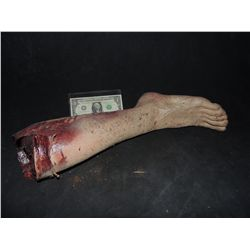 SEVERED BLOODY LEG WITH FOOT 1 FOAM FILLED LATEX