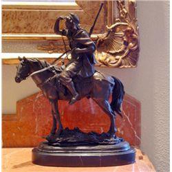 Magnificent Bronze Sculpture Scout