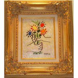 Bouquet Enamel 8 x 10  Picasso