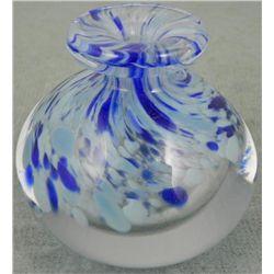 Artist Signed Art Glass Perfume Bottle, Pen Holder