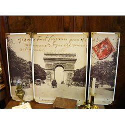Large Post Script Arc de Triomphe Champs Elysees (3 pan