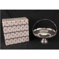 IS International Silver Plated Pierced Basket -In Box