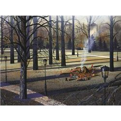 Autumn Afternoon by Yamagata Signed Serigraph