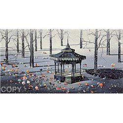 Winter Day by Yamagata Signed Serigraph-RARE
