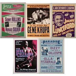 5 Jazz Concert Repro Posters Rollins Coltrane Lunceford