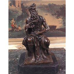 Exquisite Bronze Sculpture Michaelangelo's Moses
