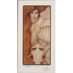 Dragon in the Sword Art Print Robert Gould  Signed