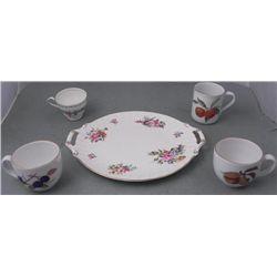 5 Pc Teacup, Coffee Mug, Plate English Bone China