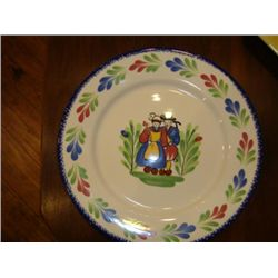 French faience earthware plate made by Pornic