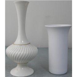 Lenox & Rosenthal 2 Small & Elegant Porcelain Vases