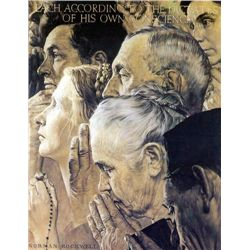 Freedom of Worship By Norman Rockwell S/N