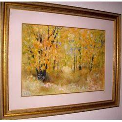 Oak Creek In Fall By Elizabeth Welsh OriginalWatercolor