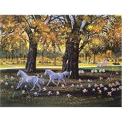 First Day of Fall by Yamagata Signed Serigraph