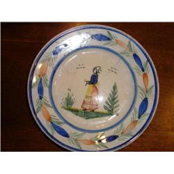 Old French Quimper HB plate