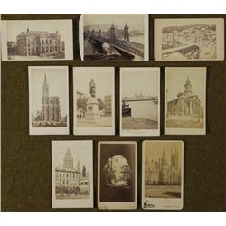 10 Antique CDV Photographs Travel, Buildings,Outdoors