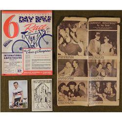 1949 PROGRAM FOR SCHWINN BIKE 6 DAY RACE IN CHICAGO