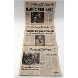 Batman Returns Gotham Globe Newspaper Props