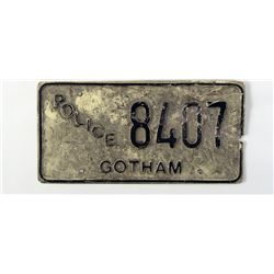 Batman Returns Gotham Police License Plates Props