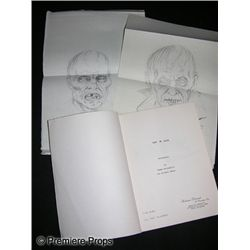 Tom Burman Script for One Dark Night and Two Zombie Drawings