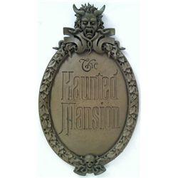 Haunted Mansion Disneyland Ride Entrance Sign