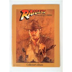 Indiana Jones Collector Album Signed By Kim Knowlton