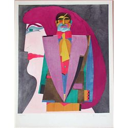 Richard Lindner, Portrait No. 1, Signed Lithograph
