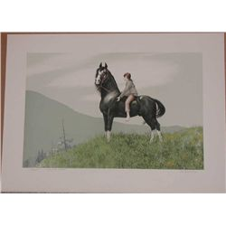 Mel Hunter, Morgan, Signed Signed Lithograph