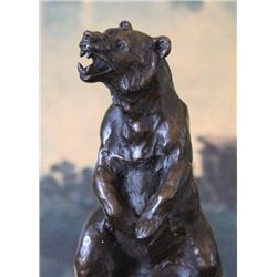 Magnificent Bear Bronze Sculpture