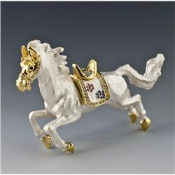 Faberge Inspired Equestrian Jewelry Trinket Box