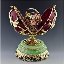 Beautiful Floral Bouquet Faberge Inspired Egg