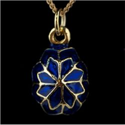 Snowflake Faberge Inspired Egg Pendant
