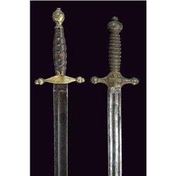 A lot of two Italian short-swords