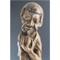 Black Americana Folk Art Carved Root Figure