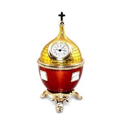 Uspenskiy Cathedral Faberge Inspired Clock Egg