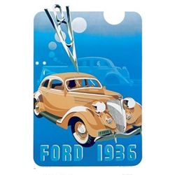Ford V8, 1936 Advertising Poster Car Art Print