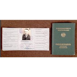 GERMAN PASSPORT & ID PASS FROM GERMAN NAZI ORG TODT