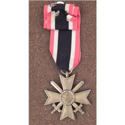 NAZI WAR MERIT CROSS WITH SWORDS W/RIBBON-FULL LENGTH