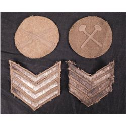 WWI DOUGHBOY PATCH COLLECTION-2 CHEVRONS-INFANTRY & ENG